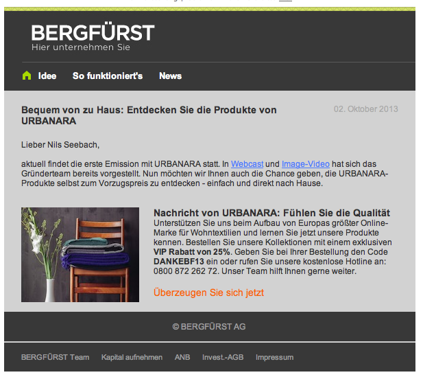 Bergfürst Werbung